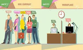membres numériques de l entreprise de vecteur de l équipe et le