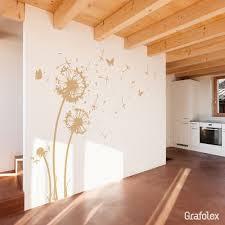 wandtattoo pusteblume schmetterling wohnzimmer schlafzimmer
