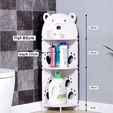 kleines badezimmer aufbewahrungs ecke boden kabinett mit