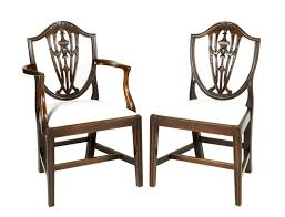 9369 - Early 19th Century Set Of Eight Dining Chairs After ... 4 Hepplewhite Style Mahogany Yellow Floral Upholstered Ding Chairs Style Ding Table And Chairs Pair George Iii Mahogany Armchairs Antique Set Of 8 English Georgian 12 19th Century Elegant Mellow Edwardian Design Antiques World 79 Off Wood Hogan Side Chair Eight Late 18th Of