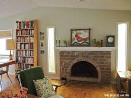 Paint Colors Living Room Red Brick Fireplace by One Wall At A Time