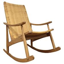 100 Woven Cane Rocking Chairs MidCentury Back Chair Chairish