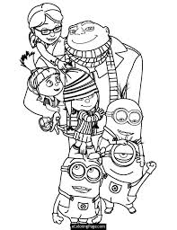 Despicable Me Characters Coloring Pages Printable 705x