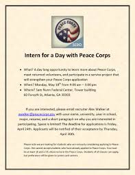 May 18 – Intern For A Day With Peace Corps – INTA Advising Blog Cover Letter For Veterinary Internship Chronological Resume Resume Peace Corps Sample Lovely Writing The Free Volunteer Examples Template Mock Free Excel Mplates Application Workshop Informational Session Pcv Rsum Thailand Magazine Elegant Example Of