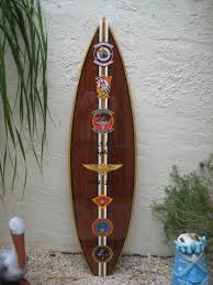 Decorative Surfboard Wall Art by Decorative Wood Surfboard Wall Art Military Gift Dedication