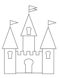 Simple Princess Castle Coloring Page