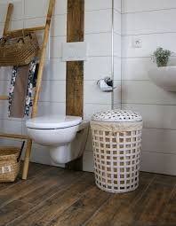wäschekorb weiss bambus ca 55 l wäschesammler wäschebox wäschetonne wäschesortierer animal design