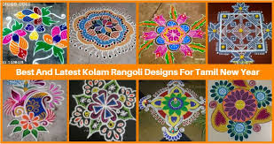 14 Best And Latest Kolam Rangoli Designs For Tamil New Year 2017