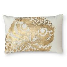 Decorative Lumbar Pillows For Bed by Metallic Owl Decorative Lumbar Pillow White Threshold Ava U0027s