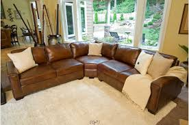Living Room Rustic Leather Couch