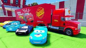 Disney Cars Pixar Lightning McQueen Transportation W/ Mack Truck ...