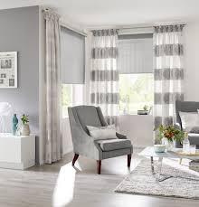 doppelrollo zebra plissee wohnzimmer gardinen weiß silber