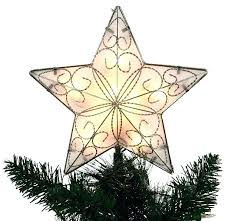 Star Light Fixture Lighted With Points Tree Topper Glass Dallas Cowboys Endearing