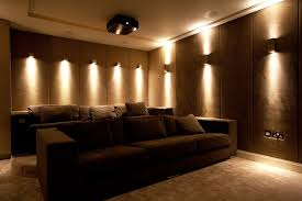 wall sconce ideas bright yellow color lot of light home theater