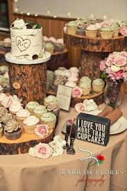 Barn Wedding Cake Table Ideas Amazing Rustic Cupcakes Stands Deer Pearl Flowers Cupcake And Tree Stump