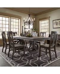 Rowyn Wood Extending Dining Table Set By INSPIRE Q Artisan 7 Piece With