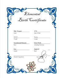 Blank Birth Certificate Template For Elements Element In French Translate