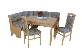 eckbankgruppe mit ausziehbarem tisch 2 stühlen und einer bank ingrid