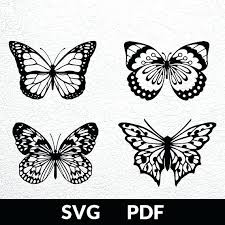 Four Designs Cut File Paper Cutting Template Butterfly Tutorial