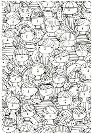 Free Coloring Page Adult Faces Zen Anti Stress
