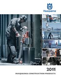 Husqvarna Tile Saw Canada by Husqvarna Construction Products 2011 Distribution Product Catalog