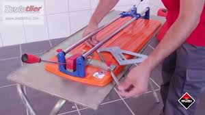 Qep Tile Saw Manual by Rubi Ts Manual Tile Cutter 2014 Model From Tradetiler Youtube