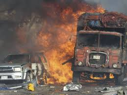 Mogadishu Truck Bomb: At Least 20 Dead After Huge Explosion In ... Investigators Looking Into Cause Of Truck Explosion While Crew Was Tanker With 9000 Gallons Gas Overturns Explodes Portland Food Explodes Kobitv Nbc5 Kotitv Nbc2 Pickup Next To Southcrest Apartments The San Diego Propane Tanker Flames On I40 Kforcom Takata Troubles Worsen As Kills Texas Woman Watch Tipped Engulf Highway In Cnn Video Fire More Than 100 People Gerianile Ohp Man Pulls Driver From Burning Fedex After Crash Us Syria Dozens Killed Fuel Truck Explosion Airstrikes Near Eric Sniders Sort Boring Blog Party Whole Road Engulfed Ethanol Erupts Following