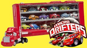 100 Cars 2 Mack Truck Transporter Display Case Of Micro Drifters YouTube
