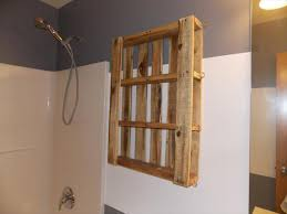 Recycled Pallet Bathroom Wall Hanging Shelf