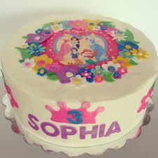 Disney princess 3rd birthday cake cakes Pinterest