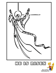 Print Coloring Of He Is Risen At YesColoring