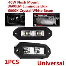 100 Work Lights For Trucks 40W 3600LM Truck OffRoad Flush Mount LED Light Bar Pods Flood