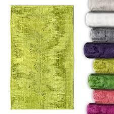 tapis de bain chenille vert pomme casa pura antidérapant et