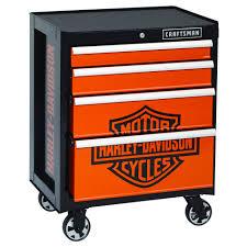 Harley Davidson Bathroom Decor by Craftsman 113652 Harley Davidson 4 Drawer Rolling Cabinet
