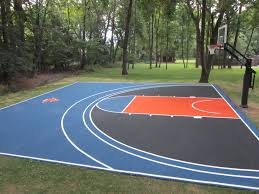 Backyard Basketball Court Dimensions | Design And Ideas Of House Backyard Basketball Court Multiuse Outdoor Courts Sport Sketball Court Ideas Large And Beautiful Photos This Is A Forest Green Red Concrete Backyard Bar And Grill College Park Go Green With Home Gyms Inexpensive Design Recreational Versasport Of Kansas 24x26 With Canada Logo By Total Resurfacing Repairs Neave Sports Simple Hoop Adorable Dec0810hoops2jpg 6 Reasons To Install Synlawn Small Back Yard Designs Afbead
