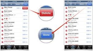 How to delete individual call records from Recent Calls on your