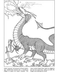 Dragon Coloring Book Dover Publications Samples