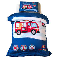 100 Toddler Truck Bedding EsyDream Fire Engine Crib Comforter Sets 6pc 100 Cotton Fire Turck Engine Boys Quilt With Filling Color 4