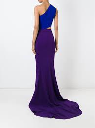stella mccartney one shoulder evening gown in blue lyst