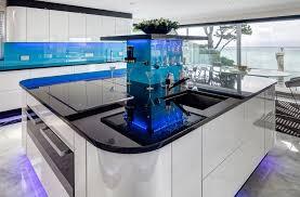 Marine Blue Kitchen Glass Splashbacks