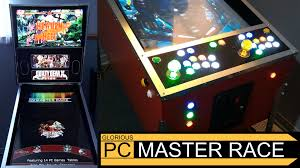 Build Arcade Cabinet With Pc by Pinkadia Mame Pinball And Pc Games In A Combined Pinball And