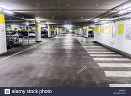 Basement Of An Underground Car Park For Cars At The Edge Wolfsburg Lower Saxony Germany