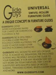 Chair Glides On Hardwood Floors by Glideguys Glides Fbb Set Of 4 1