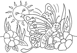Spring Coloring Pages Printable And Throughout For Summer