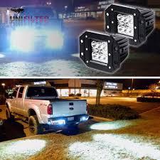 100 Work Lights For Trucks Pair 24W Spot LED Cube Pods Flush Mount OffRoad Truck