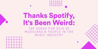 Chvrches We Sink Instrumental by Thanks Spotify It U0027s Been Weird Top Songs For 2016 Of Musicians