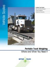 100 Portable Truck Scale Brochure En Transport