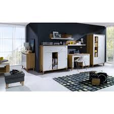 wohnzimmer komplett set a bambey 6 teilig farbe eiche