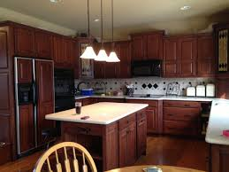Nice Image Kitchen Pendant Lighting Ideas For Decor Combine With Restaining Oak Cabinets