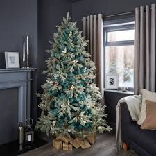 6ft Christmas Tree by 6ft 6in Winterfold Mint Green Pre Decorated Christmas Tree